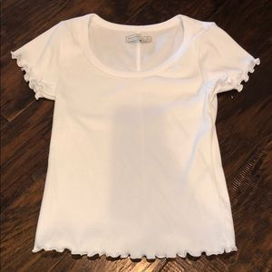 white ribbed Abercrombie & Fitch top